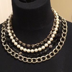 """Four strand fashion necklace, approx 17"""""""